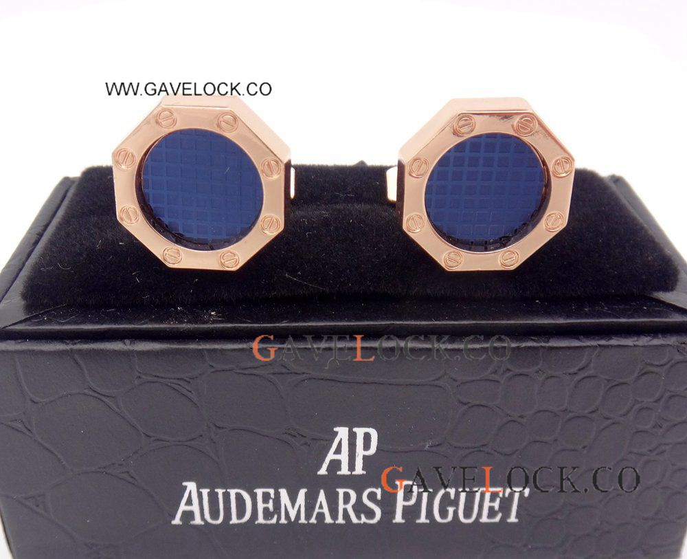 AAA Replica Audemars Piguet Royal Oak Rose Gold Cufflinks Mens Cufflink